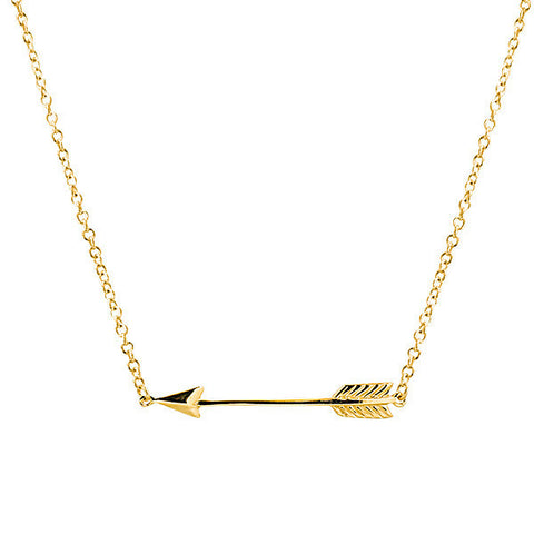 14 carat gold filled arrow necklace