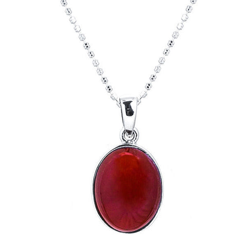 Carnelian oval cabochon necklace