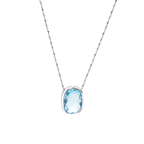 Blue topaz & sterling silver necklace
