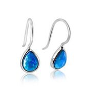 Opalite tear drop earrings