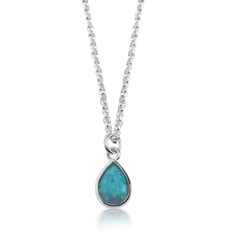 Bright blue sterling silver necklace