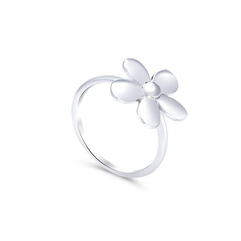 Sterling silver petite flower ring