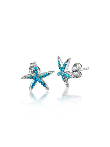 Pretty turquoise starfish earring