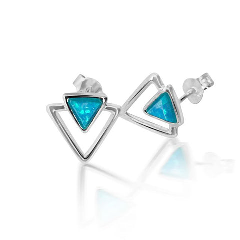Opalite triangle earring