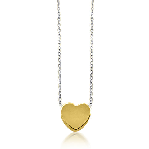 Pretty gold heart necklace