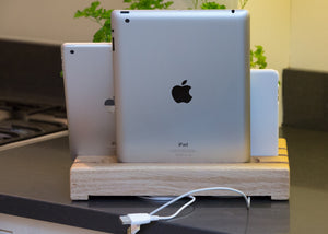 Family ipad & iphone dock rear view