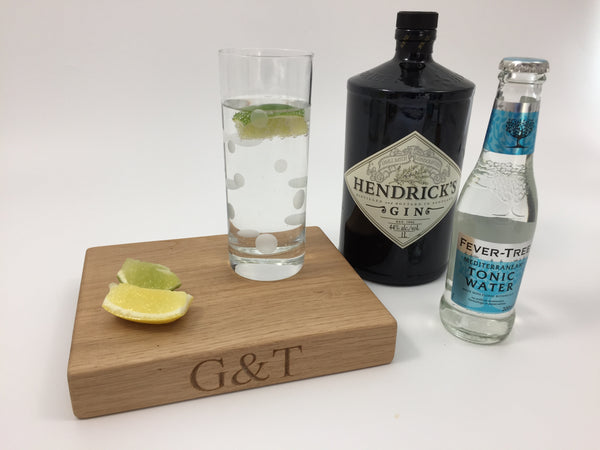 personalised G&T board