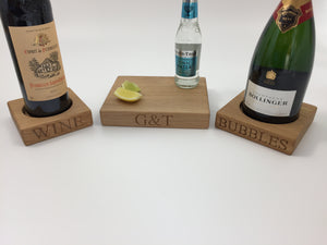 solid oak beverage range