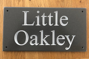 CORIAN HOUSE SIGN - Medium
