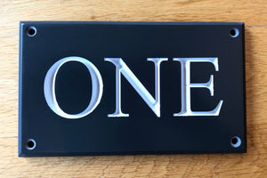 CORIAN HOUSE SIGN - Small