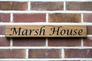 OAK HOUSE SIGN - Medium