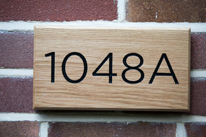 OAK HOUSE NUMBER SIGN