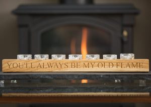candle holder text