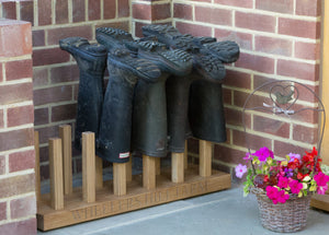 welly boot rack outdoor