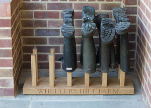 Personalised welly boot rack