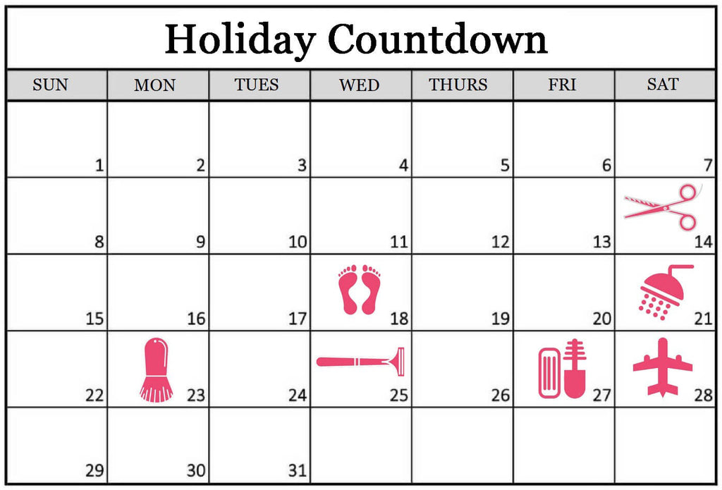 pre holiday beauty tips schedule