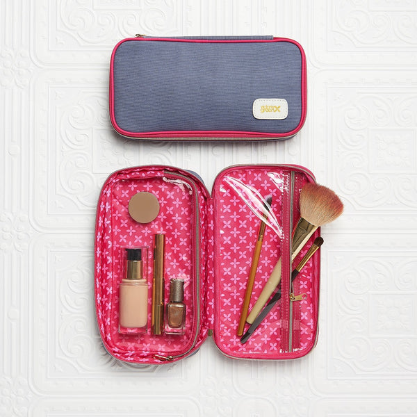 Cosmetic Case 'Lucy' with clear compartments