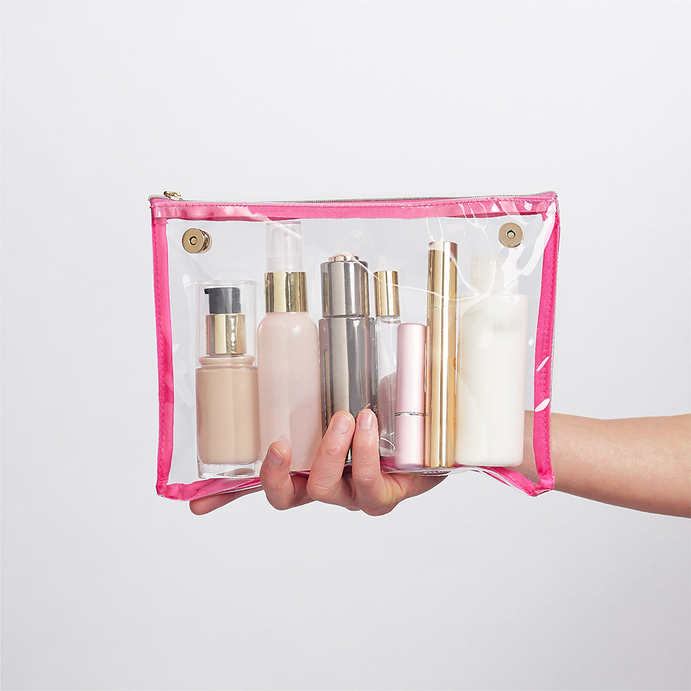 airport friendly transparent makeup bag