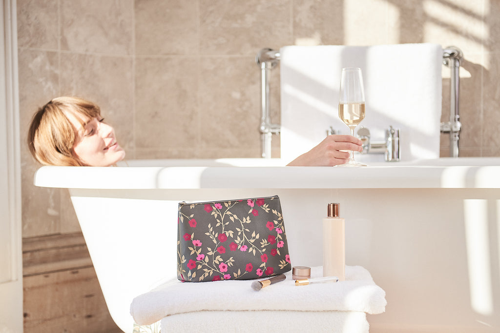 at-home pamper with Victoria Green beauty bags