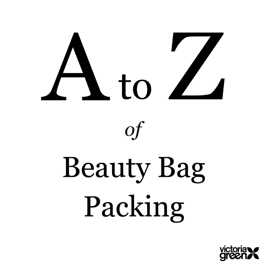 a-z toiletries packing