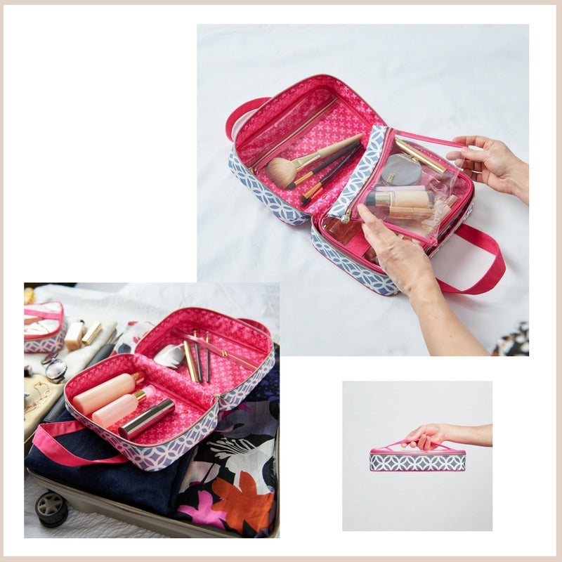 hanging wash bag with compartments