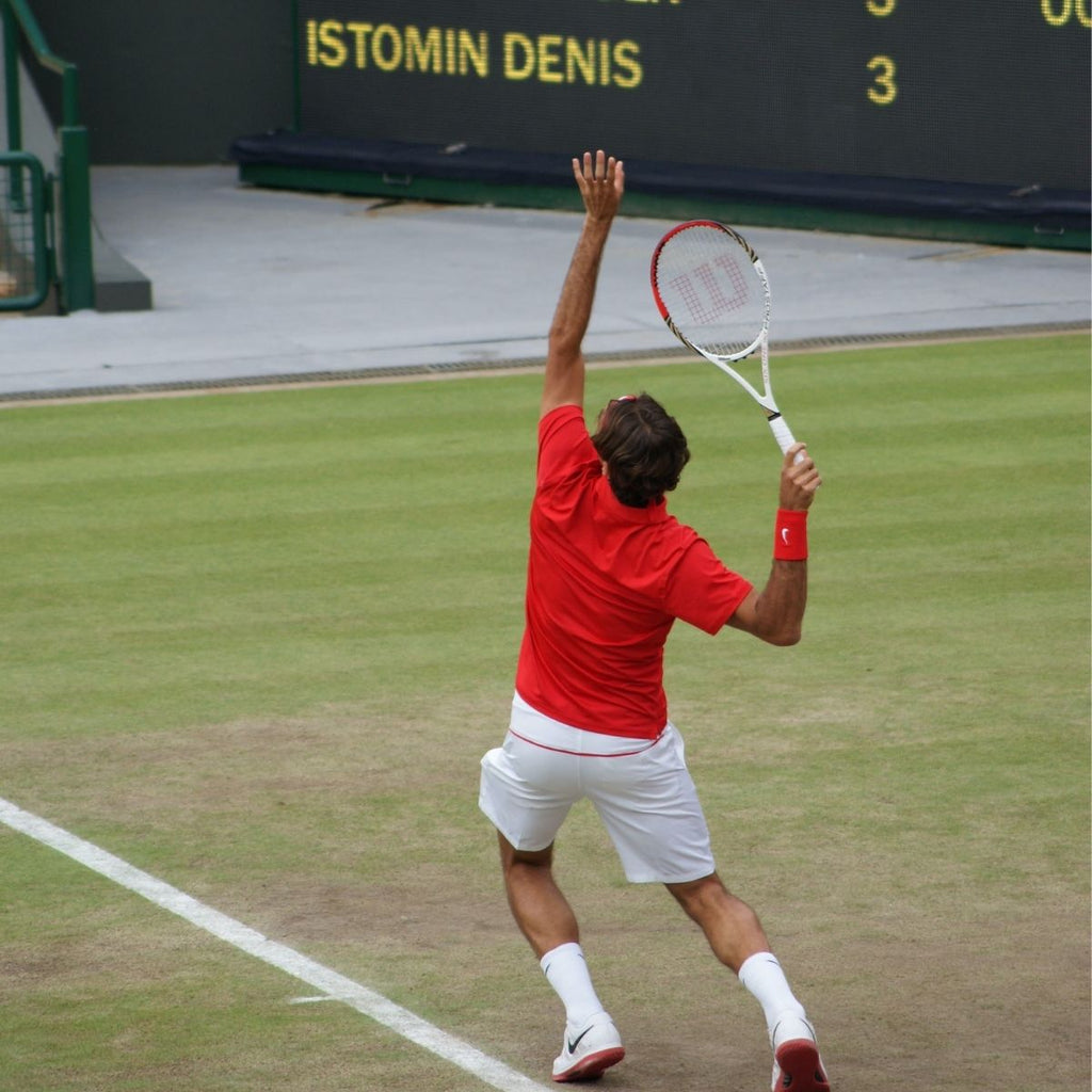 Tennis player at Wimbledon for how to be organised this month June