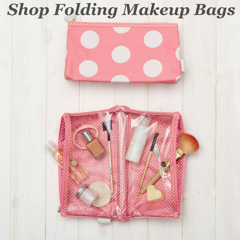 victoria green folding makeup bag