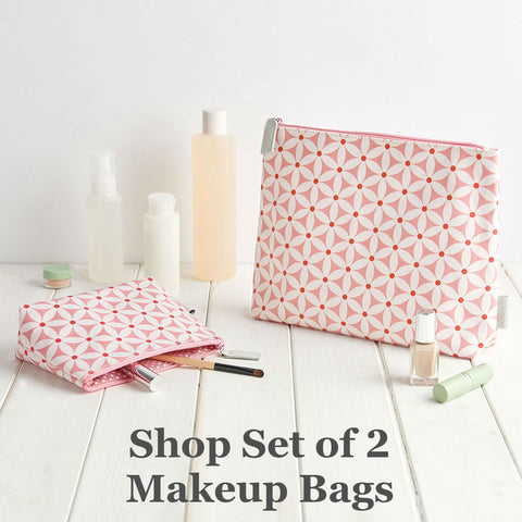 victoria green set of 2 makeup bags