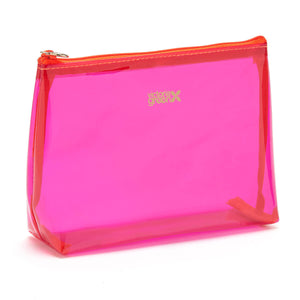 clear makeup bag pink