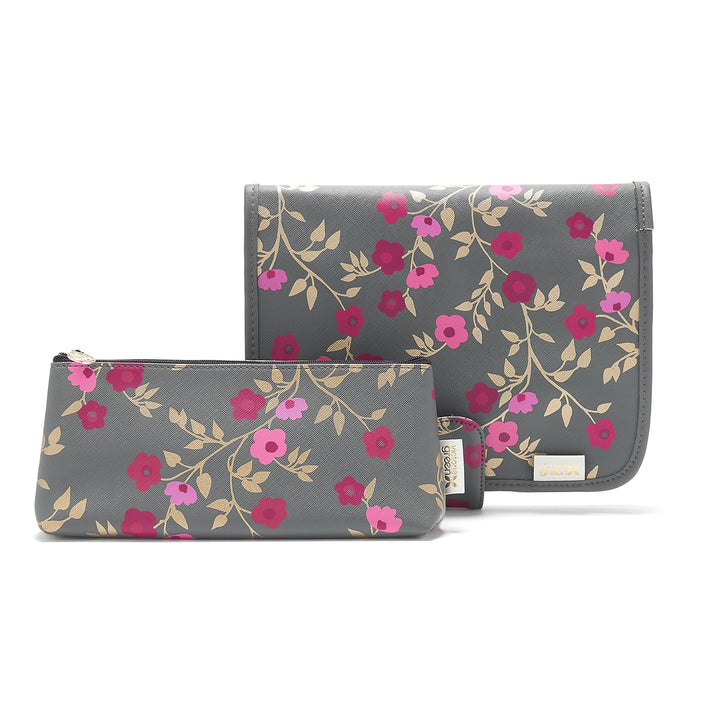 hanging beauty makeup bag and cosmetic bag in floral pattern