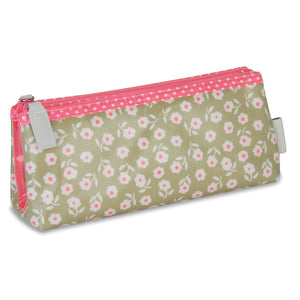 Folding Makeup Bag for Women, a  Perfect Travel Cosmetic Bag & Organiser for your  Handbag in Daisy Print by Victoria Green