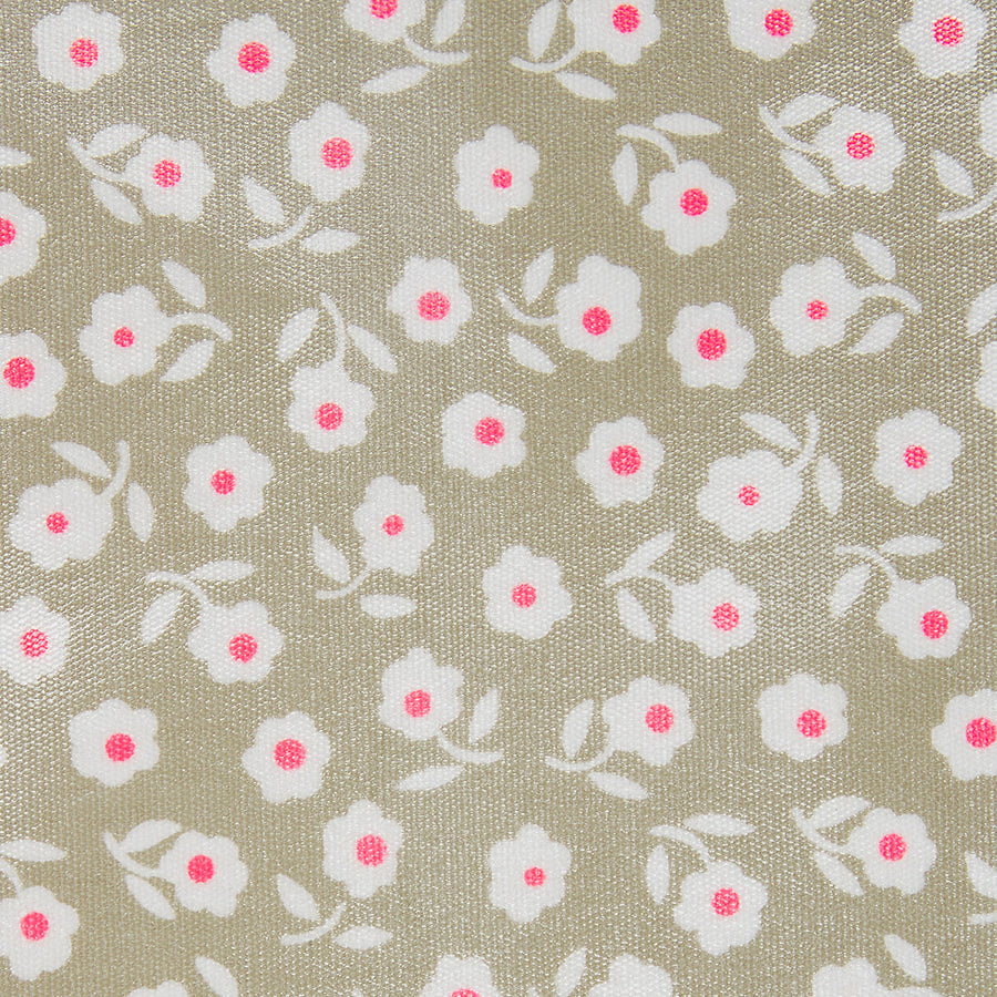 close up fabric detail of waterproof daisy sage