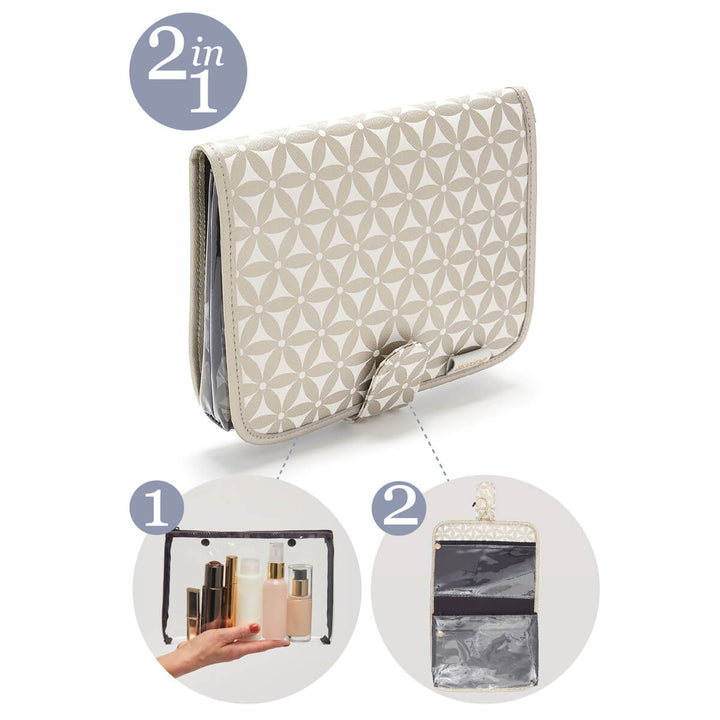 Kate hanging wash bag 2 in 1 gold