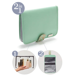 Kate hanging wash bag jade 2 in 1