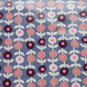 close up of PVC fabric in lorton smoke print