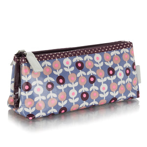 Foldover make-up bag in lorton smoke pattern