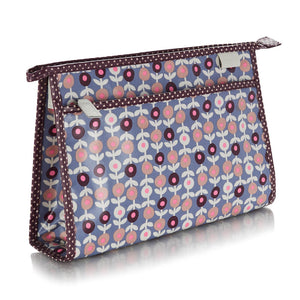classic wash bag in lorton smoke print PVC fabric