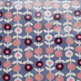 close up of lorton smoke PVC make-up bag fabric