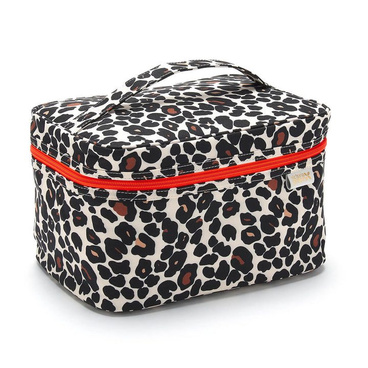 vanity case in tan leopard by Victoria Green