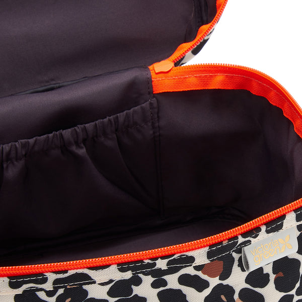 vanity case bag inside with secure zip fastening