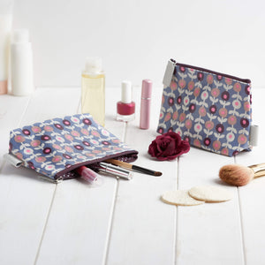 make-up bags UK in lorton print