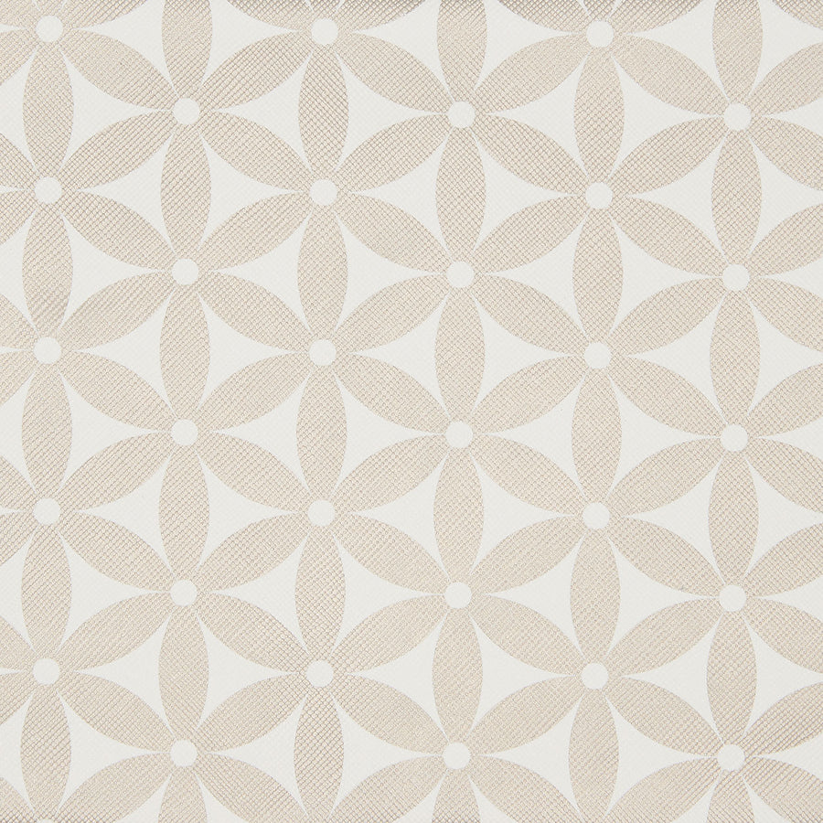 Gold starflower pattern fabric for large makeup bag