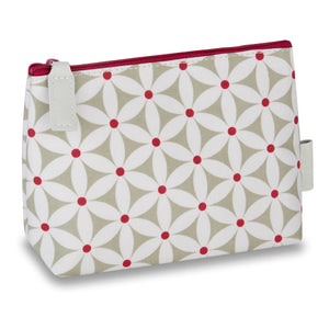 makeup bags uk with zip and starflower sage pattern