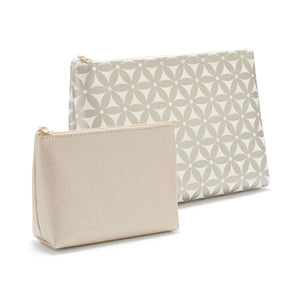 large makeup bag and small makeup bag gift set