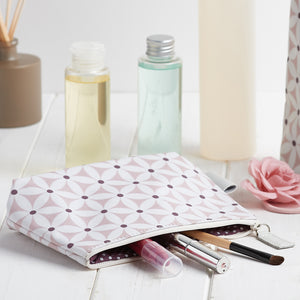 Makeup bags UK with pattern, zip and waterproof