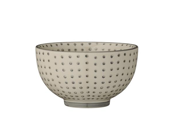 Carla grey dot bowl