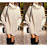 Fashion High-necked sweater dress-1