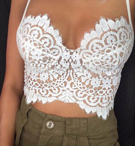 FASHION EMBROIDERED FLOWERS BRA