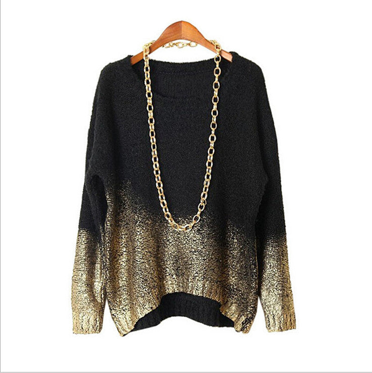 BAT LOOSE KNIT BRONZING SWEATER