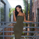 dew shoulder tight dress